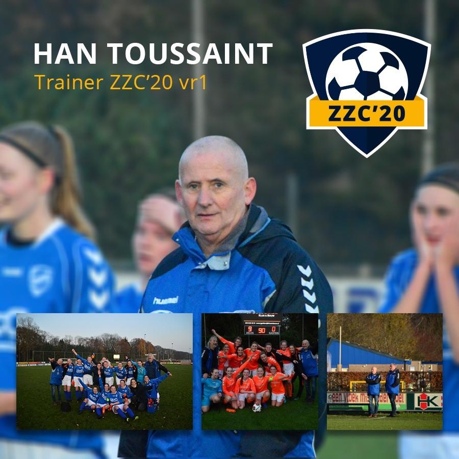 Han Toussaint ook in seizoen 2021-2022 trainer ZZC'20 VR1 zaterdag